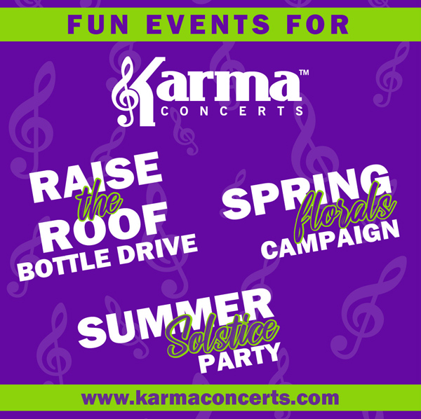 Upcoming events for Karma Concerts in 2021