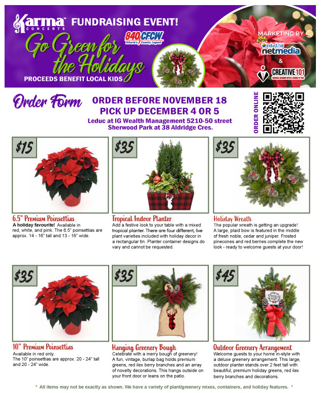 Order your Holiday Arrangements today!